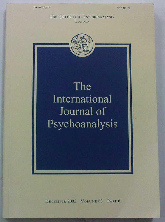 The International Journal Of Psychoanalysis